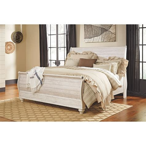 willowton queen sleigh bed  qsleighbed ashley