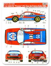 Calcas Ferrari 308 GTB Tour Corse 1982 12  slot decals Andruet