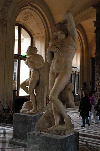 The Slaves by Michelangelo at the Louvre