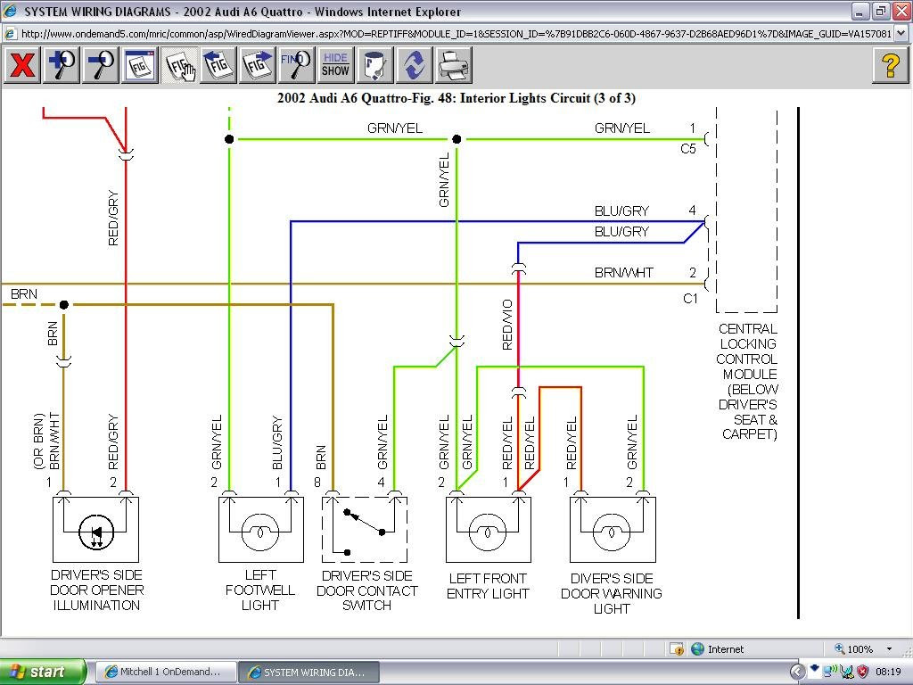Wiring Schematic For 1999 Audi A6