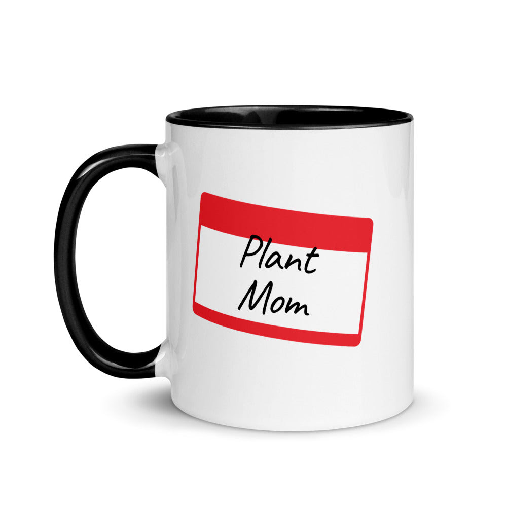 Download Plant Mom Name Tag Mug with Color - Plant Moms Only