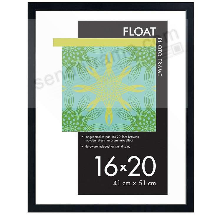 Solid Wood Glass Float 16x20 Frame By Burnes Picture Frames Photo