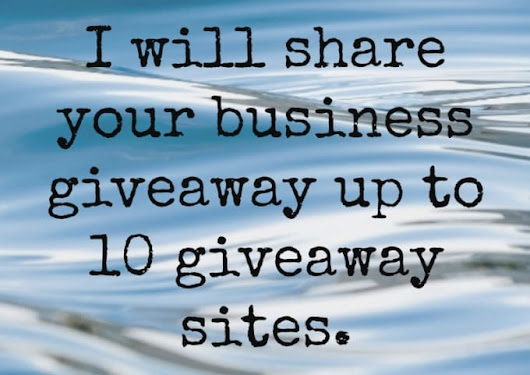 writemealetter : I will promote your business giveaway up to 10 sites for $5 on www.fiverr.com