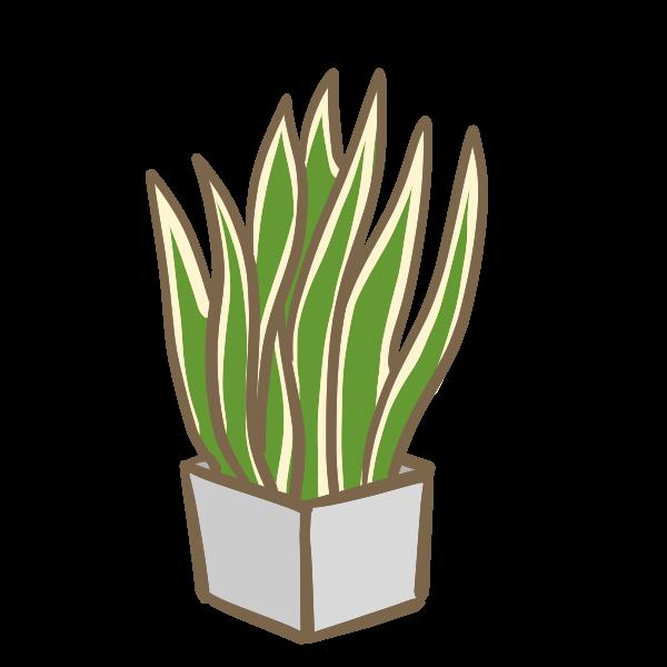 観葉植物3のイラスト かわいいフリー素材が無料のイラストレイン