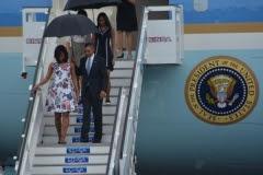 Obama en Cuba. Obama llegó a Cuba acompañado de su esposa, Michelle, y sus hijas Malia y Sasha. (Foto: ACN)