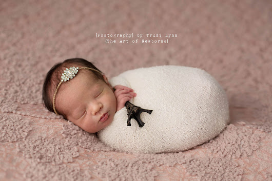 Springtime in Paris / Eiffel Tower Themed Newborn Photography Michigan