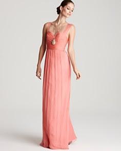 Amsale Dress - Crossover Neckline