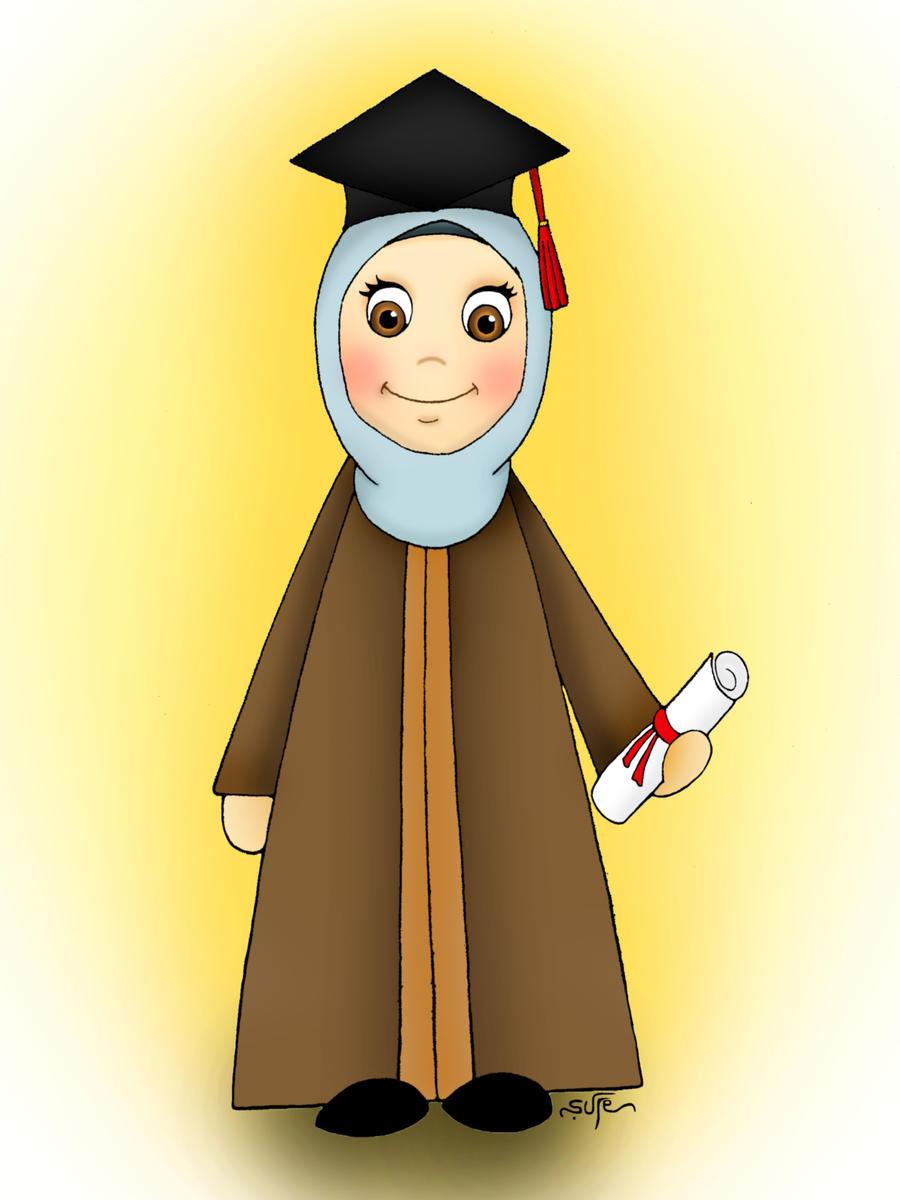 Kumpulan Animasi Wisuda Muslim Gokil Abis