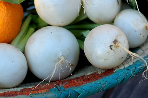 Gorgeous young turnips