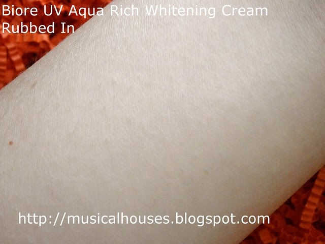 Biore UV Aqua Rich Whitening Cream Blended