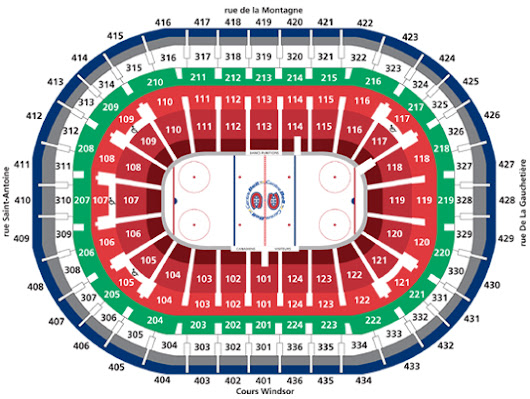 Breakdown of the Bell Centre Seating Chart
