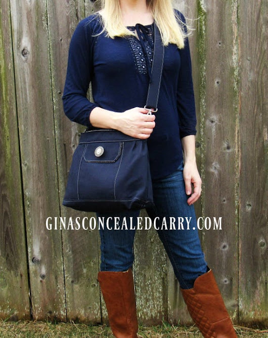 Concealed Carry purse Solid Navy Made in MO by GCCginascraftcorner