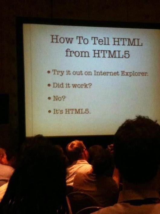 Twitter / NewtVision: How to tell #HTML from #HTML5 ...