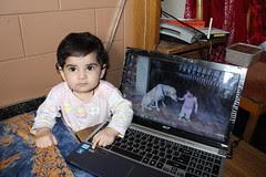 Nerjis Asif Shakir Loves Lucky The Labrador by firoze shakir photographerno1