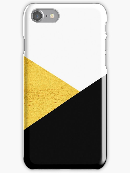 'Gold & Black Geometry' iPhone Case/Skin by by-jwp
