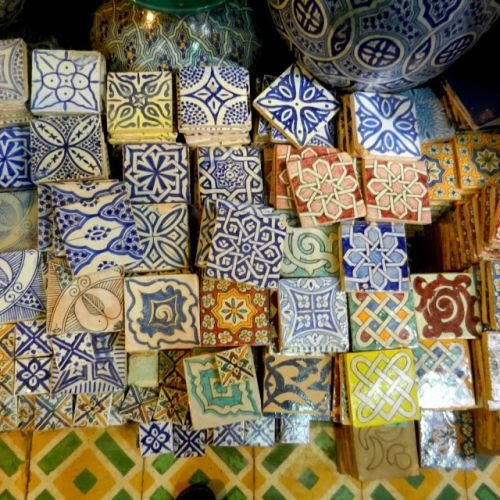 islamic-art-and-quotes:  Islamic Tiles for Sale at Moroccan Souq From the Collection: Photos of Islamic Tiles Originally found on: alyibnawi