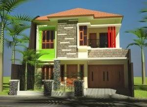 terpopuler 16+ rumah minimalis lantai 2 hijau