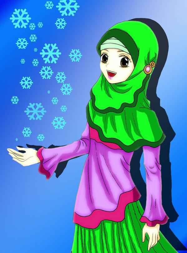 Gambar Kartun Muslimah Cantik Anime Berhijab Keren Anime Wallpapers