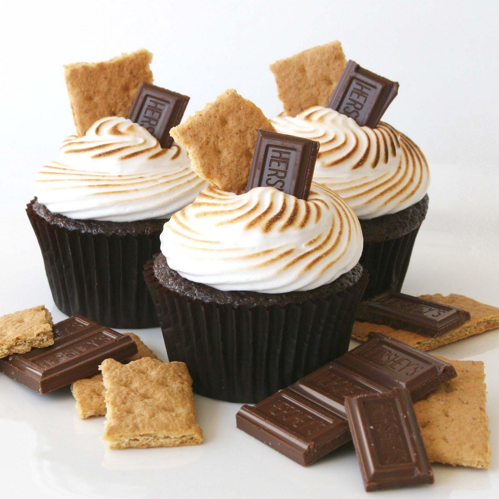 Chocolate S'mores Cupcakes {Recipe} - Glorious Treats