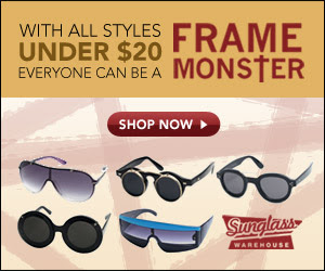 Lady Gaga Sunglasses from Sunglass Warehouse