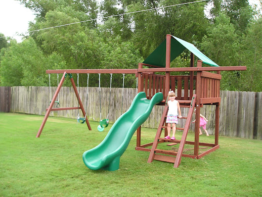 Weighing the options of a Do-It-Yourself Wood Swing Set Kit! - Outdoor Patio Ideas