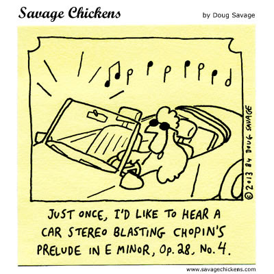 Rockin Out Cartoon | Savage Chickens - Cartoons on Sticky Notes by Doug Savage