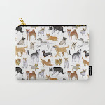 """Carry All Pouch   Dogs Fun Watercolor by Anaana - Small (6"""" x 5"""") - Society6"""