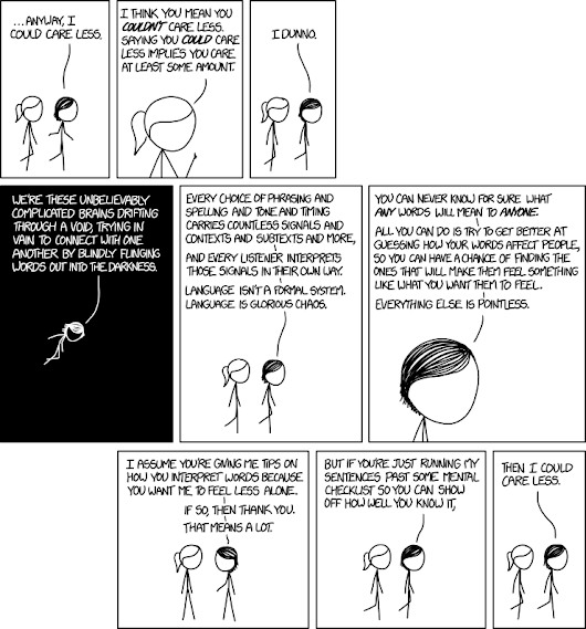xkcd: I Could Care Less