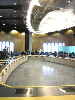 Main meeting room of the European Commission i...