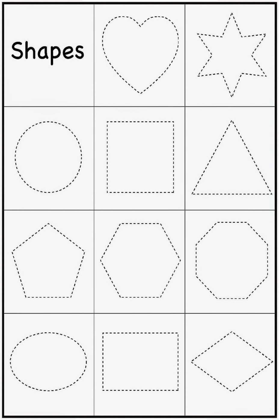 Printable Toddler Worksheets