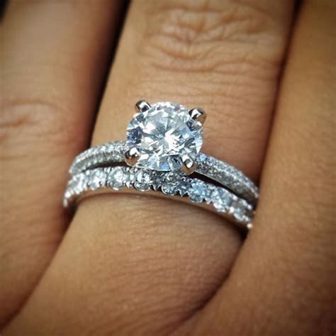 Trio Micropavé Diamond Engagement Ring in Platinum (1/3 ct