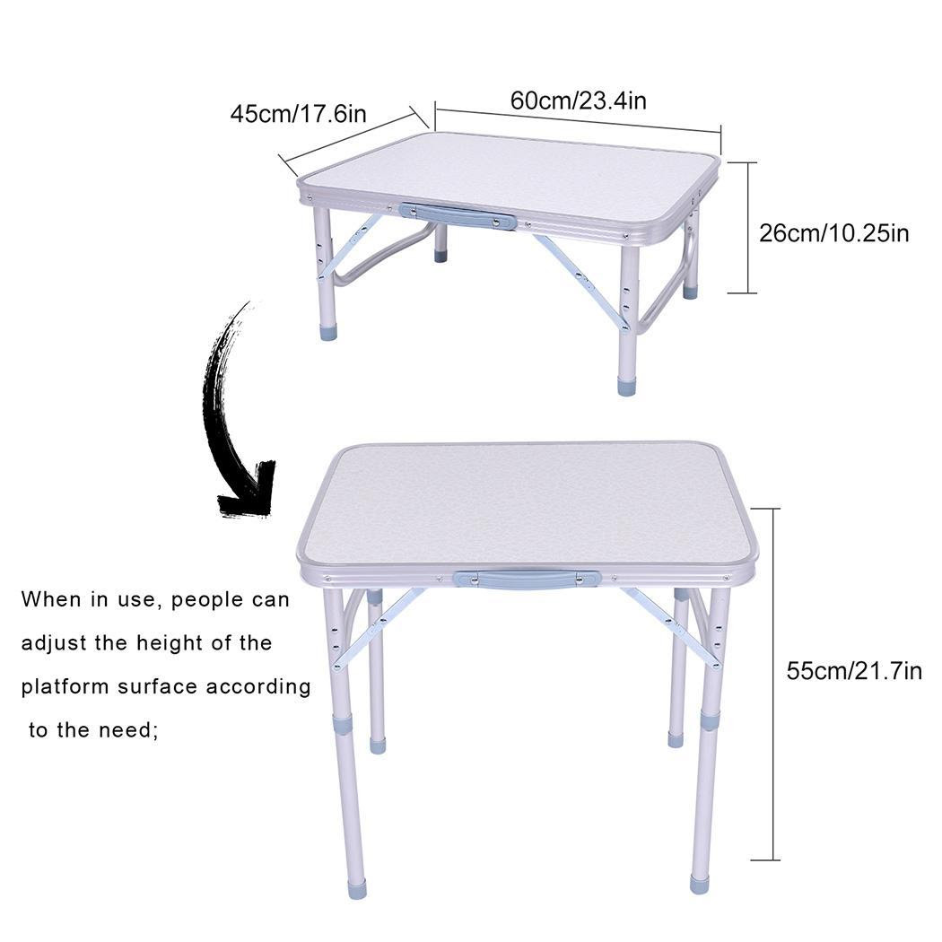 Adjustable Height Folding Table In/Outdoor Picnic Party ...