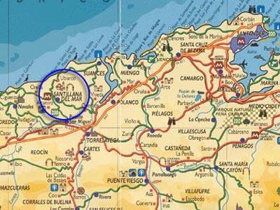 Santillana Del Mar Mapa.Mapa Santillana Del Mar Mapa