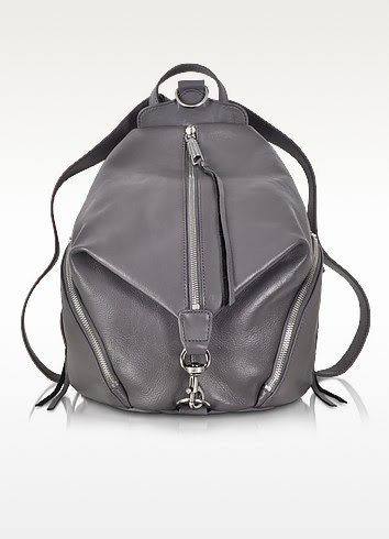 Dark Grey Leather Julian Backpack - Rebecca Minkoff