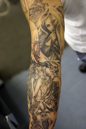 Sabavon Sleeve Tattoo Angels And Demons