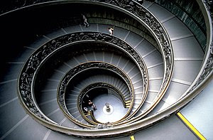 A spiral staircase inside one of the Vatican M...