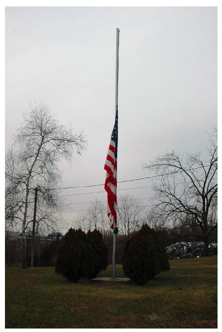 half mast flag