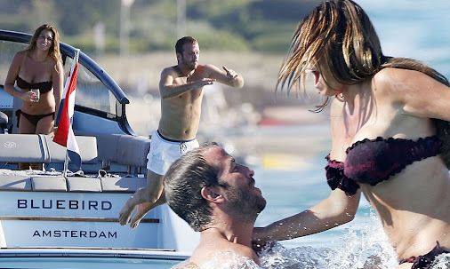 Rafael Van der Vaart takes Sabia Boulahrouz on holiday to St Tropez