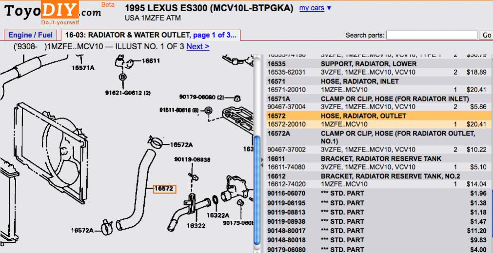 Otomotif Creator: lexus es300 engine diagram