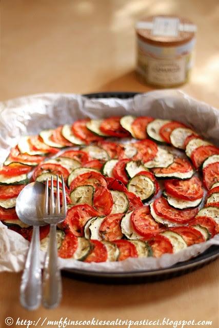 Tian di zucchine e pomodori