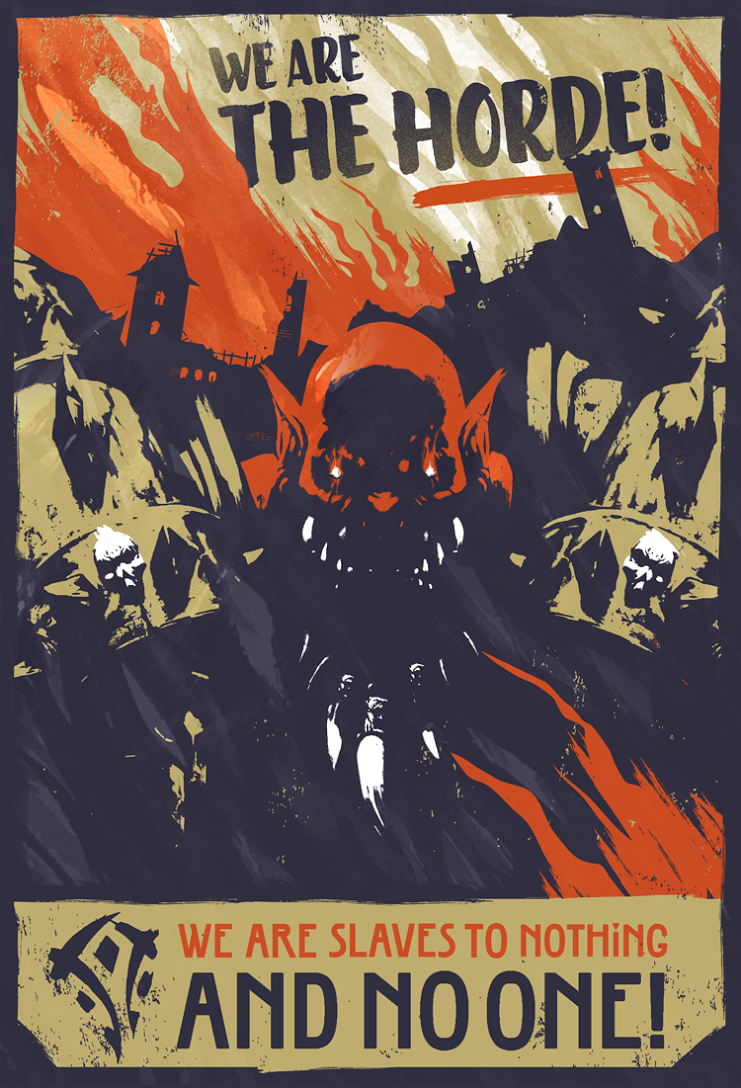 World of Warcraft Propaganda Posters by Laz Marquez