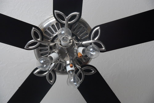 taking off the ugly globes on a fan