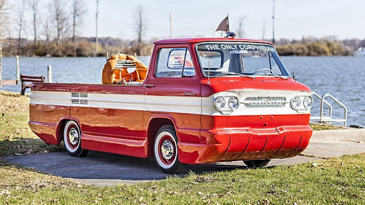 Amphibious Chevy pickup surfaces at auction