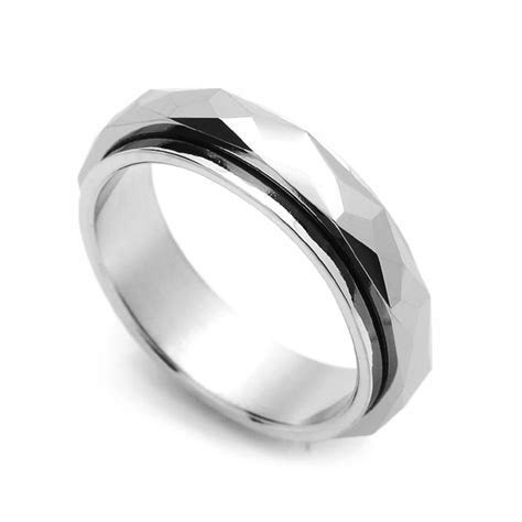 Men 5MM Comfort Fit Tungsten Carbide Wedding Band Faceted