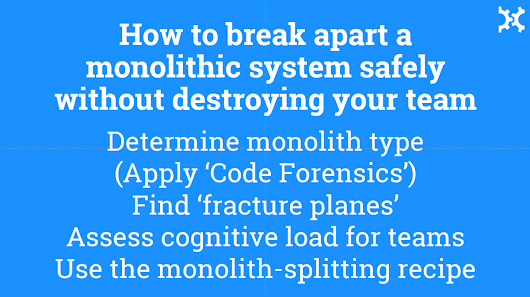 Slides from Team and Monoliths talk at Velocity Conf EU, Amsterdam, 7 Nov