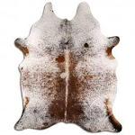 Real Leather Cowhide Salt Pepper Brazilian Hide 5' x 8' (appx.) / Salt & Pepper