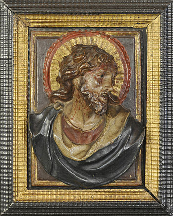 English: Jesus Christ, polychromed and gilded ...