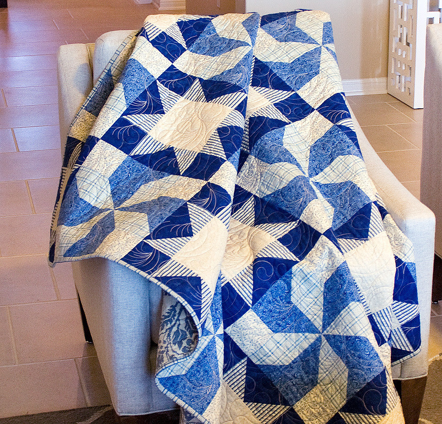 Blueberry Swirl Quilt in Fons & Porter's Easy Quilts Magazine 2014