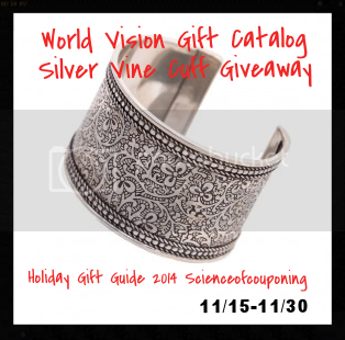 Enter the Silver Vine Cuff Giveaway. Ends 11/30