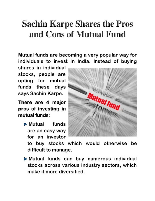 Sachin Karpe Shares the Pros and Cons of Mutual Fund